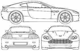 Blueprints Cars Aston Martin Aston Martin V8 Vantage 2005