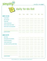 printable task lists daily to do list for kids