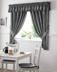 Black And White Curtains Gingham Value Kitchen For Decorating Ideas