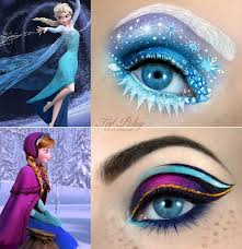 makeup artist tal peleg posted these amazing eye makeup designs based on the two main characters in disney s frozen