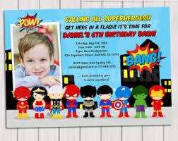 Personalized Superhero Birthday Invitations Purplebtterfly On Etsy