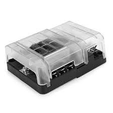 6 way blade fuse box block holder bus bar cover kit for 32v car 6 way blade fuse box block holder bus bar cover kit for 32v car marine boat cod