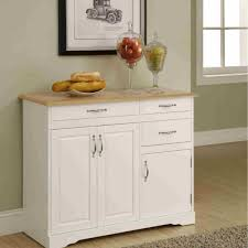 small kitchen buffet with hutch