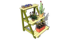outdoor plant stand plans wooden corner