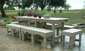 nice plastic outdoor dining set outdoor patio set recycled plastic table and benches garden chairs