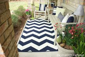 target outdoor furniture patio table and chairs navy chevron patio rug from target front
