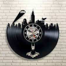 best wall clocks modern batman gotham city logo clock decorate your home with throughout 16