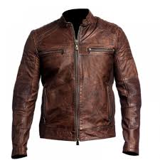 cafe racer brown distressed leather jacket distressed jacket