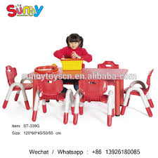 preschool table and chairs. Preschool Classroom Table Furniture Kindergarten Red Plastic Children And Chairs