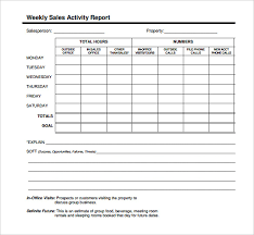 sales report example excel remarkable weekly basis sales activity report template and form