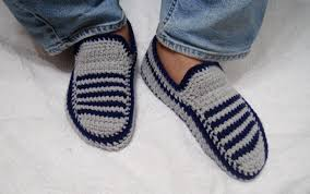 Mens Bedroom Shoes Mens Knit Slippers Etsy