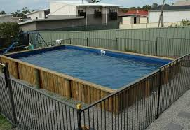 square above ground pool with deck. Exellent With Above Ground Pool Edging Ideas Without Deck Around And Square Type Design In With W