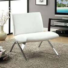 modern white accent chair a striking angular chrome frame supports this minimalist white faux leather accent chair with christopher knight home modern round