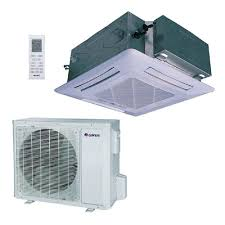 mini split ac unit.  Mini GREE 30600 BTU Ductless Ceiling Cassette Mini Split Air Conditioner With  Heat Inverter And Remote Inside Ac Unit I