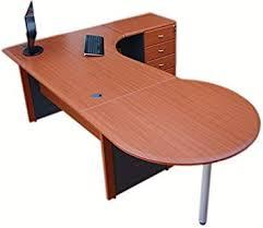 office corner desk. Office Corner Desk Right Hand With 4 Drawer Pedestal \u0026 Round Computer Top - (