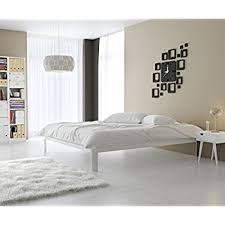 white metal platform bed. Delighful Bed In Style Furnishings Contemporary Low Profile Lunar Platform Bed With Metal  Frame U0026 Strong Slats  Inside White N