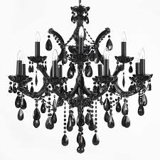 vibrant inspiration black and crystal chandeliers 7