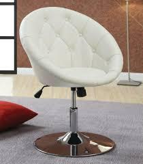 white swivel chair. White Leather Swivel Chair