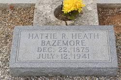 """Harriett R """"Hattie"""" Heath Bazemore (1875-1941) - Find A Grave Memorial"""