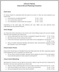 Event Planning Checklist Free Word Documents Download Church Event ...