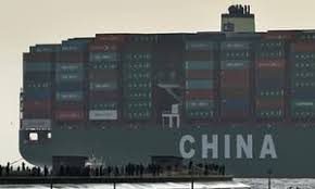 the global economy is slowing down but is it recession or world trade in action the world s largest container ship the cscl globe docks