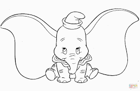 Dumbo Coloring Page Printable Coloring Pages