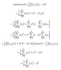 Variance Formula Standard Deviation Formula Shortcut Method Frequency