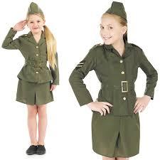 sentinel childrens ww2 army girl costume dress costume 40s world war 2 outfit khaki l