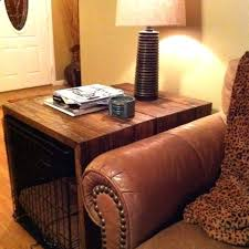 diy dog crate covers side table we built to cover our large wire used that wood diy dog crate covers