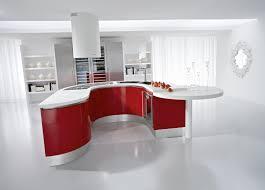 Green Pedini kitchen in Artika glossy red lacquer