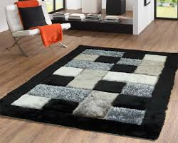 full checd area rug black and white beautiful coffee tables of