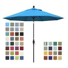 California Umbrella 9 Ft Sunbrella Designer Market Umbrella California 9 Patio Umbrella With Crank Lift And Collar Tilt
