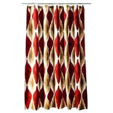 red brown shower curtain threshold large red gold brown fabric shower curtain target red brown and
