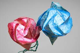 Origami Flower Paper Origami Paper Circuits Learn Sparkfun Com