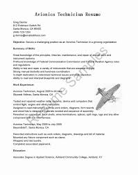 Avionics Technician Resume Avionics Technician Resume Luxury Resume Samples Avionics Technician 1