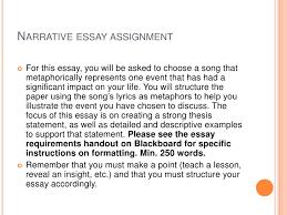 narrative essay presentation ii narrative essay assignment<br