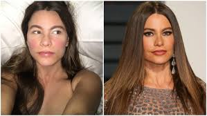 sofia vergara split image no makeup