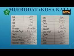Contoh soal bahasa arab tk. Video Pembelajaran Bahasa Arab Kelas 5 Mi Ts Pak Sofirin Youtube