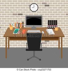 free home office. Home Office Desk Vector Clipart Illustrations Free Home S