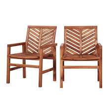 outdoor wood patio chairs set of 2