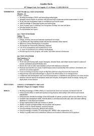 Resume Templatesn Test Engineer Sample Nardellidesign Com Prototype
