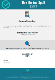 Learn vocabulary, terms and more with flashcards, games and other study tools. Correct Spelling For Chp Infographic Spellchecker Net