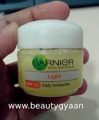 Garnier Light Moisturizer Review Garnier Skin Naturals Light Daily Moisturiser Spf 15 Review
