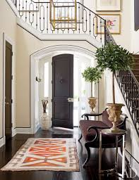 Interior:Chic Hallway Design And Modern House Entrance Idea With Cozy Brown  Chair Chic Hallway