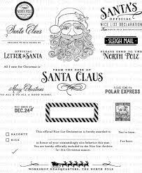 santa stationery stamp set