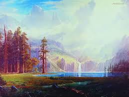 western landscape oil painting wallpaper 9