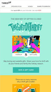 Introducing thredUP Gift Cards (!!) - thredUP Email Archive