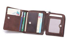 Tri Fold Window Duebel Rfid Blocking Tri Fold Mens Leather Wallet Holder Case Protector Holds 9 Credit Cards 1 Id Window 1 Bill Compartment 1 Zipper Coin