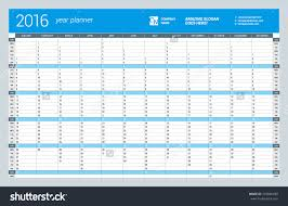 2016 Yearly Calendar Large Printable | Calendar Template 2017