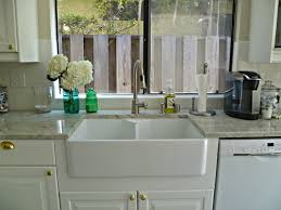 Kitchen Sinks For Granite Countertops Farmhouse Sinks With Graniter Tops Panels Double Porcelain